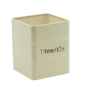 Metal Kitchen Utensil Holder - 110x110x135mm - Cream