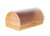 Internet's Best Bamboo Bread Box   Kitchen Food Storage Container   Wooden Bread Holder   Roll Top
