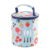 Welcomeuni Stylish Portable Insulated Storage Picnic Bag Thermal Cooler Lunch Box Tote Container