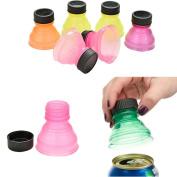 Creazy 12Pcs Soda Saver Pop Beer Beverage Can Cap Flip Bottle Top Lid Protector Snap On