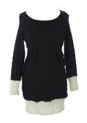 JULES & JIM Maternity Women's Colour Block Sweater Dress Large Black/White