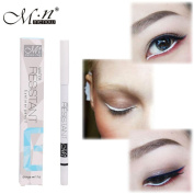 Lisingtool 1PC White Eyeliner Pencil Eye Liner Waterproof Long Lasting Eye Brighten