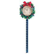 Wreath Outdoor Thermometer Snow Gauge