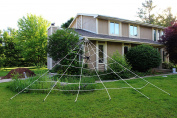 Spooktacular Creations 7m X 5.5m Triangular Mega Spider Web for Outdoor Halloween Decoration