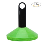10Pcs Kids Soccer Training Cones with Carry Handle Disc Cones Set for Agility Training