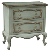 Sofaweb.com Hand Painted Distressed Light Green Finish Accent Chest