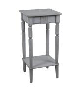 Privilege Wood Accent Tables 28429 Privilege 28429 Square Accent Table - Smoke Ash 14 X 70cm X 36cm Grey