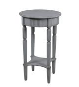 Privilege Wood Accent Tables 28430 Privilege 28430 Round Accent Table - Smoke Ash 15.75 X 70cm X 40cm Grey