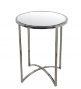 Privilege Metal Accent Tables 89019 Privilege 89019 Accent Table - Steel 19 X 60cm X 48cm Silver