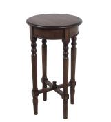 Privilege Wood Accent Tables 28422 Privilege 28422 Round Accent Table - British Brown 15.75 X 70cm X 40cm Brown