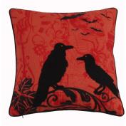 Halloween Crow Throw Pillow, Halloween Accent Pillow
