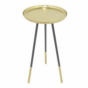 BENZARA Metal Accent Table - Gold - Benzara / BM121772 /