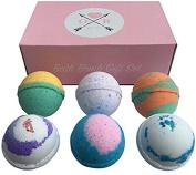 Extra Large 100% Natural Lavender Rose Bath Bomb - 7cm Wide - Chemical Free Bath Bomb, Dye Free Bath Bomb, Perfume Free Bath Bomb