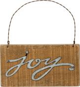 Primitives By Kathy 14cm x 7.6cm Metal Wire Wood Sign Joy Ornament Home Decor