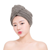 Hair Drying Towel, Ultra Absorbent Coral Velvet Dry Hair Hat Bath Shower Makeup Fast Drying Head Hair Towel Wrap Bathing Spa Swimming Twist Turban Hat Dry Cap Towels Gift