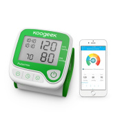 Koogeek Smart Bluetooth Wrist Blood Pressure Monitor LCD Digital with Measuring Heart Rate Memory Function Support APP for Home
