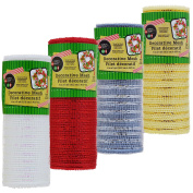 Crafters Square Decorative Christmas Holiday Sparkle Mesh - Pack of 4