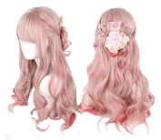 Women Girls Harajuku Sweet Lolita Wig Super Natural Club Costume Party Daily Hair with Wig Cap
