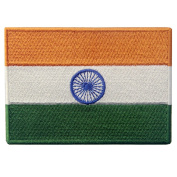 India Flag Embroidered Emblem Indian Iron On Sew On National Patch