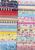 levylisa 200 PCS 10cm x 10cm 100% Precut Cotton Fabric Bundles Fat Quarters Bundle, Vintage Sheet Fat Quarter Fabric Bundle, Precut Fabric, Quilting Fabric Bundles, Precut Quilt Kit, Vintage Sheet Supply