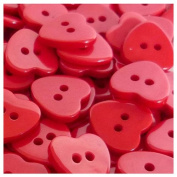 TOOGOO(R) 200pcs Bulk Plastic Heart Button Lots 11mm Sewing Craft Cards DIY colour