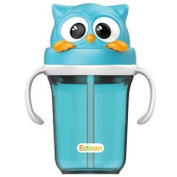 Edison Owl Straw Baby Bottle Cup 300ml Keep Warm and Cool