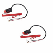 JahyShow 2x ATV Boat Outboard Engine Motor Safety Kill Stop Switch w/Tether Lanyard Cord