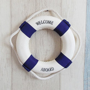 Refaxi Navy Style Cloth Life Ring Buoy Room Decor Nautical Welcome Aboard Decoration