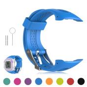 Garmin Forerunner 10 / Forerunner 15 GPS Running Watch Replacement Band - Feskio Soft Silicone Replacement Wrist Watch Strap for Garmin Forerunner 10/Forerunner 15 GPS Running Watch