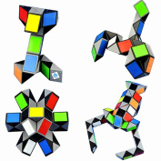 3D Magic Ruler Puzzle Snake Scorpion 72 Twist Cube Toys Children Educational Special Gifts