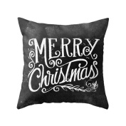 Sumen Merry Christmas Art Letters Cushion Cover Festival Pillow Case