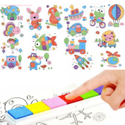 8Pcs Cartoon Kid Finger Painting Craft Set Children Colorful Finger Paint Drawing Education Learning Picture Toy