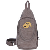 Tide Shoe House Crying Dog Men's Canvas Chest Pack Chest Shoulder Backpack Crossbody Bags