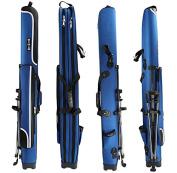 Hunvp Fishing Rod Reel Case Bag Organiser Travel Carry Case Carrier Holder Pole Tools Storage Bags-125cm