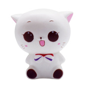 Hougood White Cat Cream Scented Slow Rising Jumbo Squishy Toy, Lovely Toy for children,Anti-Stress Toy