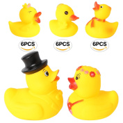Set of 20 11cm Bride and Groom Yellow Ducks Rubber Bath Toys Pure Natural Cute Rubber Ducky for Baby