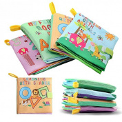 Baby SOFT BOOK Animal Forest :Non-toxic Soft Baby Toys Early Education Animal Cloth Book Set