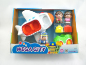 Toy Busy Airport Mega City Jet Aeroplane Play Set