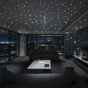 Highpot Glow In The Dark Star Wall Stickers 252 Dots And Moon Starry Sky For Kids Bedroom or Birthday Gift Beautiful Wall Decals
