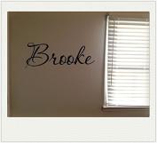 Brooke Girls Room Name Nursery Baby Kids Pretty Vinyl Wall Quote Sticker