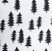 Fitted Crib Sheet in Black Pine Trees by AllTot