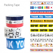 A lot of tape which packing and DIY of the baggage which packing tape, 48mm in width packing tape has a big, convenient stationery dot handle usable in various ways including the lapping, an animal handle dress stylishly, and is pretty is