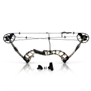 SereneLife Compound Bow, Adjustable Draw Weight 14-32kg with Max Speed 320 fps - Right Handed