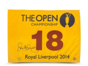 Rory McIlroy Signed Autographed 2014 The Open Championship Pin Flag #/100 - Upper Deck Certified - Autographed Pin Flags