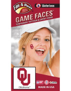 Oklahoma University (OU) Sooners – Waterless Peel & Stick Temporary Spirit Tattoos – 4-Piece – Crimson OU Logo