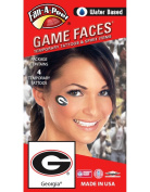 University of Georgia (UGA) Bulldogs – Water Based Temporary Spirit Tattoos – 4-Piece – Red/White/Black G Oval