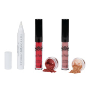 Tattoo Junkee Lip Colour and Corrector Bundle - includes Skinny Dip, Pucker Up Liquid Lipsticks and Corrector Pen