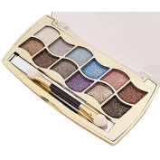 Fabal New 12 Colours Women Pro Eyeshadow Shimmer Palette & Cosmetic Brush Makeup Set