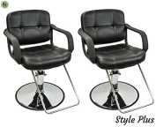 2 PC Styling Chairs For Sale Salon Equipment Hair Stylist Spa Chairs