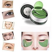 YRD TECH 1Set 60 Pcs Wholesale New Green Tea Powder Gel Collagen Eye Mask Masks Sheet
